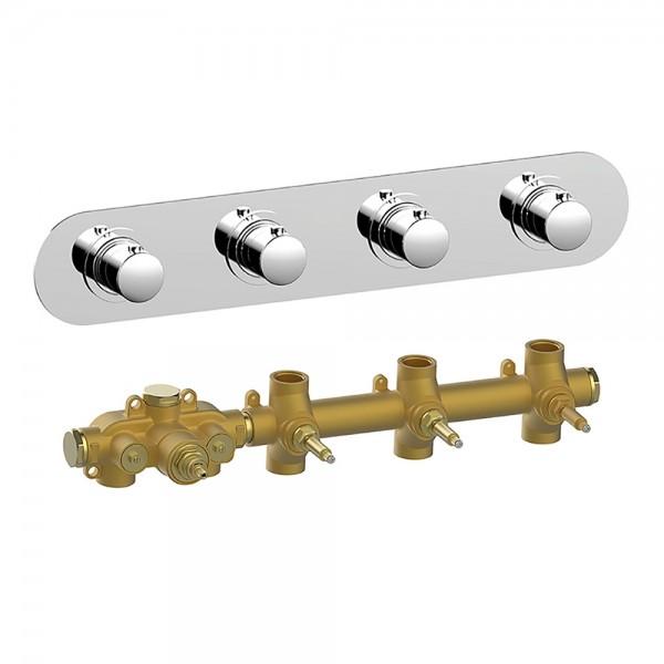 Термостат STURM SM встраиваемый на 3 потребителя (в комплекте встраиваемая часть) горизонтальный, хром KIT-HUC-SMR3-CR