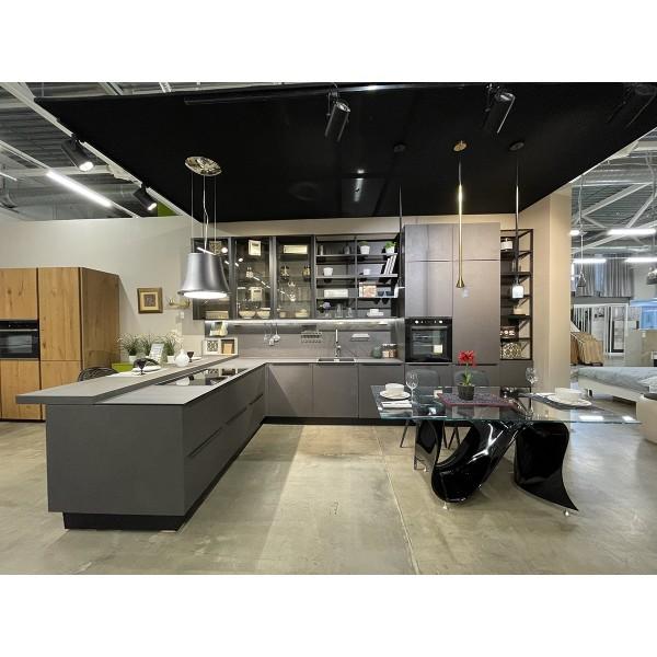 Комплект кухонной мебели с островом Lube Clover, цвет серый, LB/72_CLOVER MUTUNA_showroom