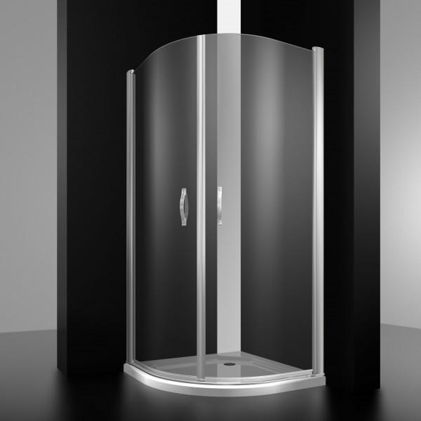 Душевое ограждение STURM Louvre 900x900x1950 1/4 круга прозрачные стекла. Хром LUX-LOUV0909-NTRCR