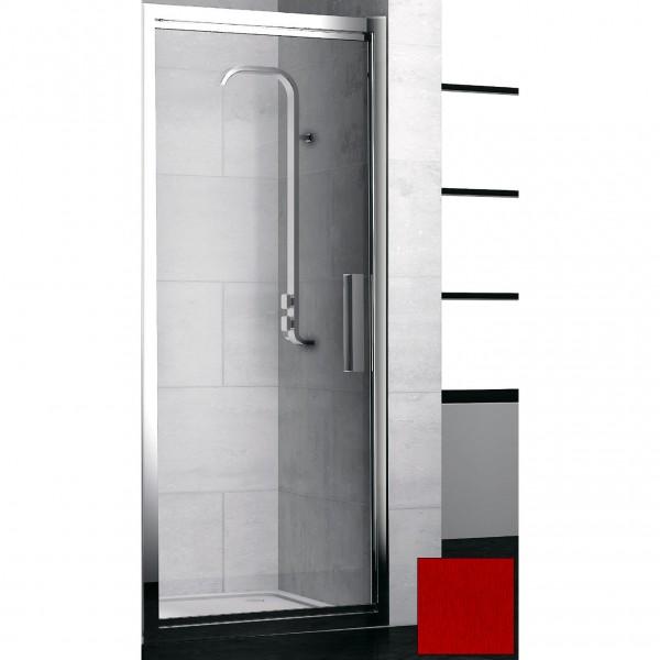 Душевая дверь в нишу STURM PDP-line Lybre 90х200 см поворотно-сдвижная, прозрачное стекло. Scotch Brite Red LRP3IR08792TR