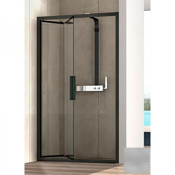 Душевая дверь в нишу STURM PDP-line Lybre 150х200 см складная, прозрачное стекло. Scotch Brite LRP2IR14791TR