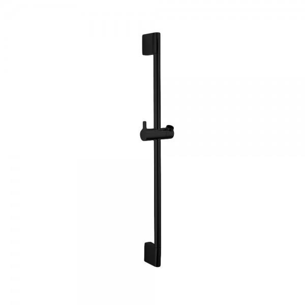 Душевая штанга STURM Universal высота 700мм с регулируемым держателем для ручного душа, чёрный матовый LUX-DS106-BM