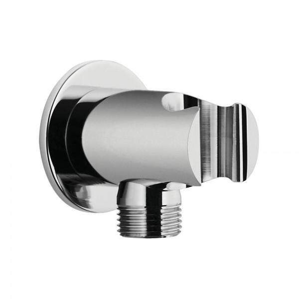 Шланговое подсоединение STURM DS с держателем ручного душа (фланец ø50 мм), хром LUX-DS1088-CR