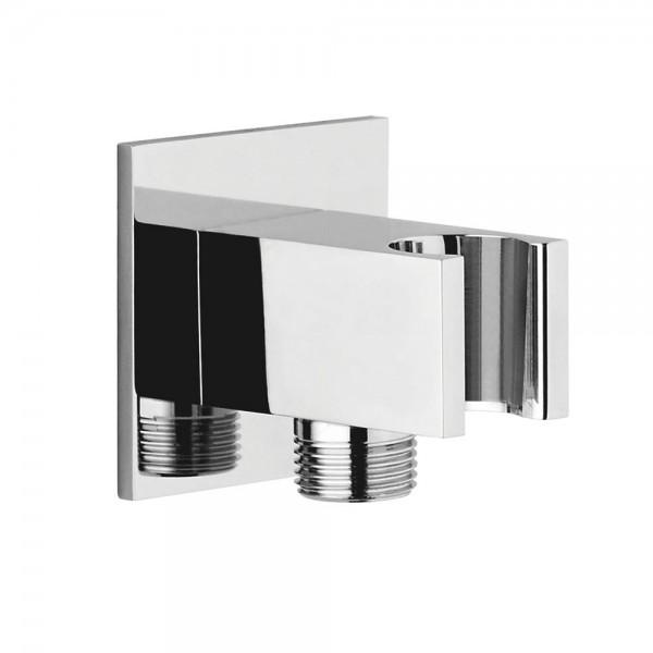 Шланговое подсоединение STURM DS с держателем ручного душа (фланец 45x45 мм), хром LUX-DS10B3-CR