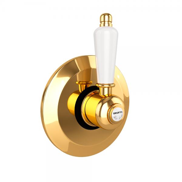 Запорный вентиль STURM Emilia, золото LUX-EMI-00310-GL