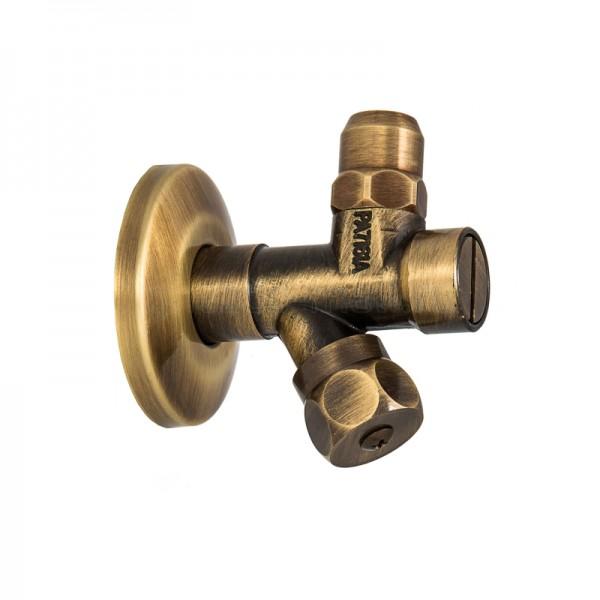 Угловой вентиль STURM Emilia для подключения воды, бронза LUX-EMI-02821-BR