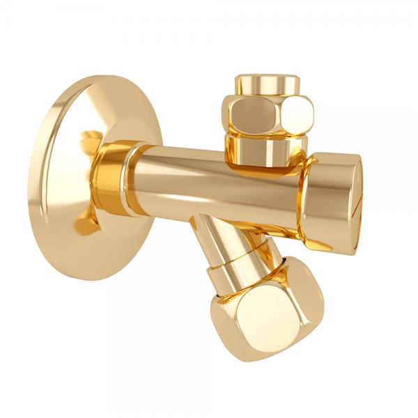 Угловой вентиль STURM Emilia для подключения воды, золото LUX-EMI-02821-GL