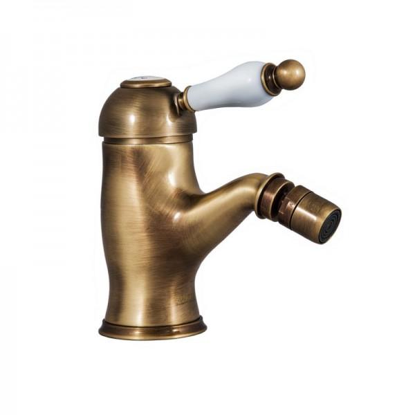 Смеситель для биде STURM Emilia с донным клапаном, бронза/белая керамика LUX-EMI-20055-BR
