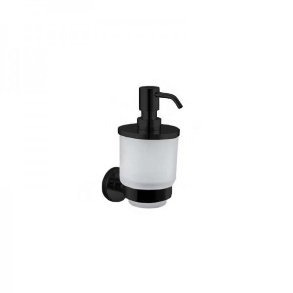Дозатор для жидкого мыла STURM Round, навесной, черный матовый, LUX-RND310-BM