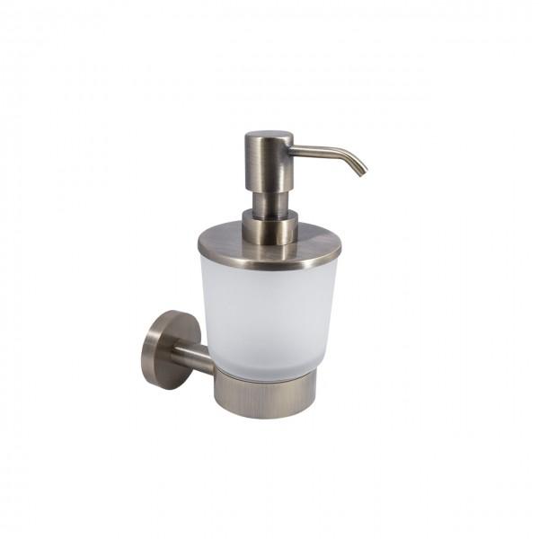 Дозатор для жидкого мыла STURM Round, навесной, бронза, LUX-RND310-BR