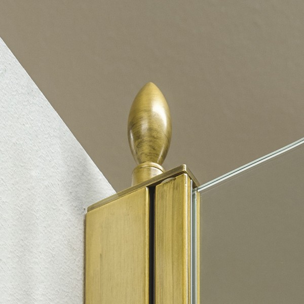 Декоративный наконечник STURM Spitze для профиля ограждений (1 шт). Бронза LUX-SPITZE-BR