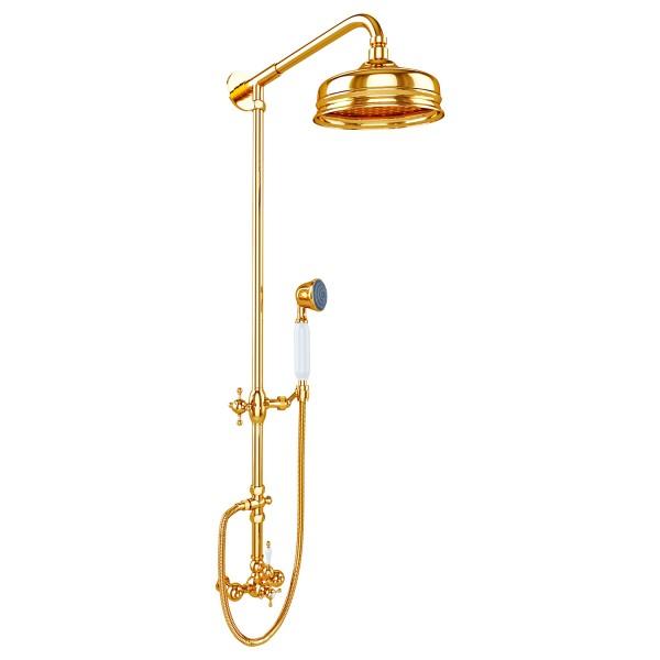 Душевая стойка STURM Victorian 2 с термостатом, золото LUX-VICTORIAN2-GL