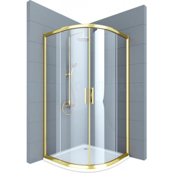 Душевое ограждение STURM Vivien 1000x1000x1950 1/4 круга прозрачные стекла. Бронза LUX-VIVI1010-NTRBR
