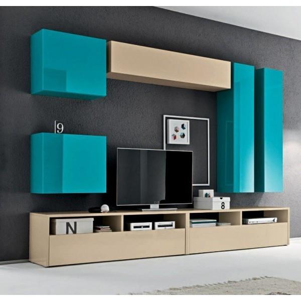 База под ТВ и для встраиваемой техники STURM Puzzle 1390x410x440, цвет бежевый глянцевый GPUZ13903