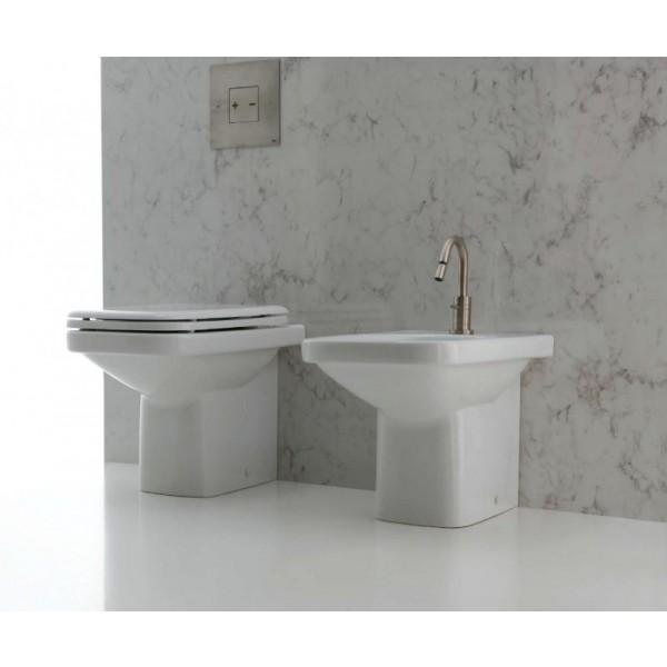 Комплект: унитаз и биде приставные AXA Moss, белый 2202001-2201101-AA2101