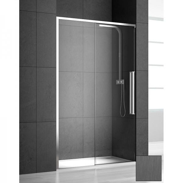 Душевая дверь в нишу STURM PDP-line New Generation 100х200 см раздвижная, левая, прозрачное стекло. Scotch Brite Titan NGP8IS09890TR