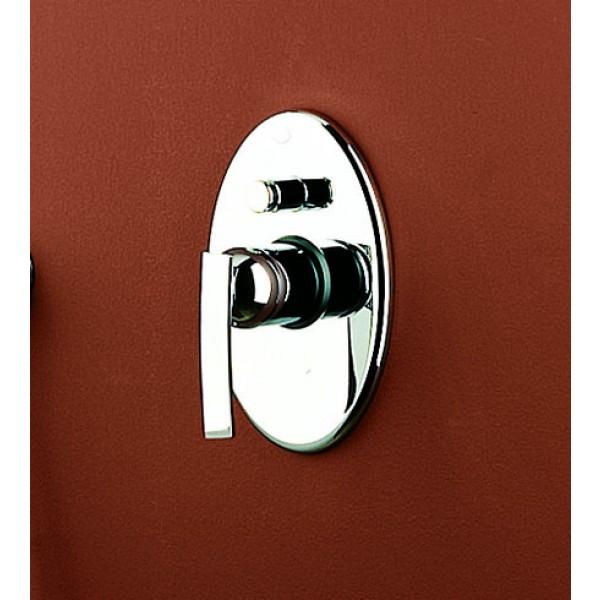 Дизайнерский смеситель для ванны и душа Ritmonio Paolo&Francesca, внешняя часть, хром, F0BA0554CRL