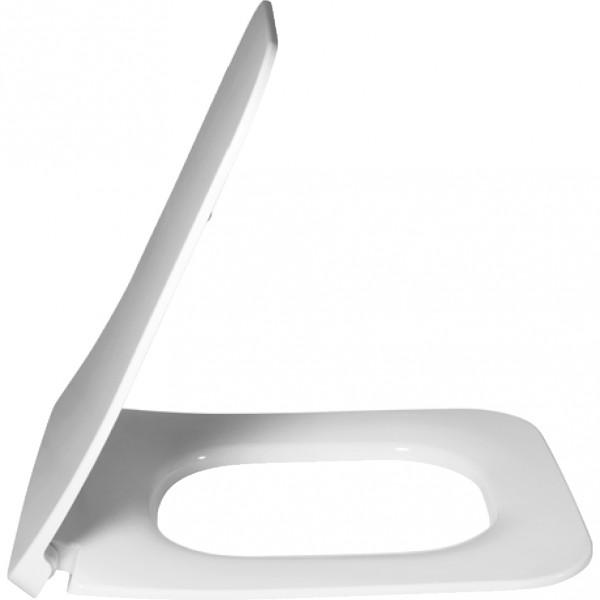 Сиденье для унитаза Villeroy & Boch Venticello SlimSeat Line с микролифтом легкосъемное, белое. Хром 9M80S101