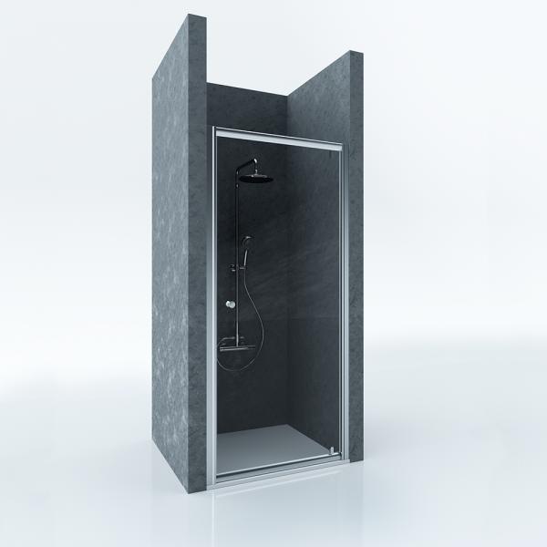Душевая дверь в нишу STURM Puerta 800x1900 прозрачные стекла. Хром ST-PUER08-NTRCR