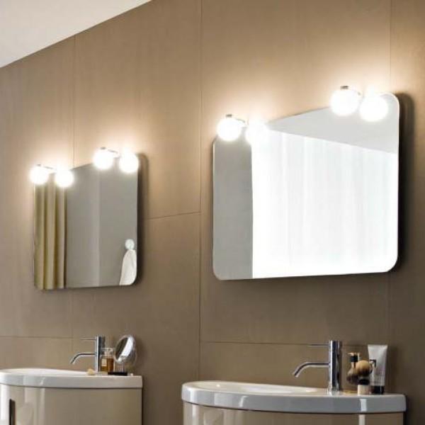 Зеркало Idea Group Moon 750x550 мм с 2 светильниками L5S075