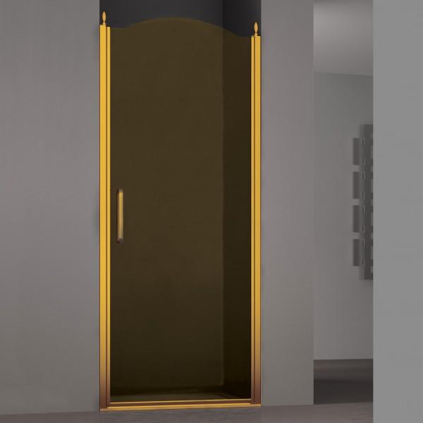 Душевая дверь в нишу STURM Schick Right 800x1950/2050 тонированные стекла. Золото LUX-SCHI08-RTOGL