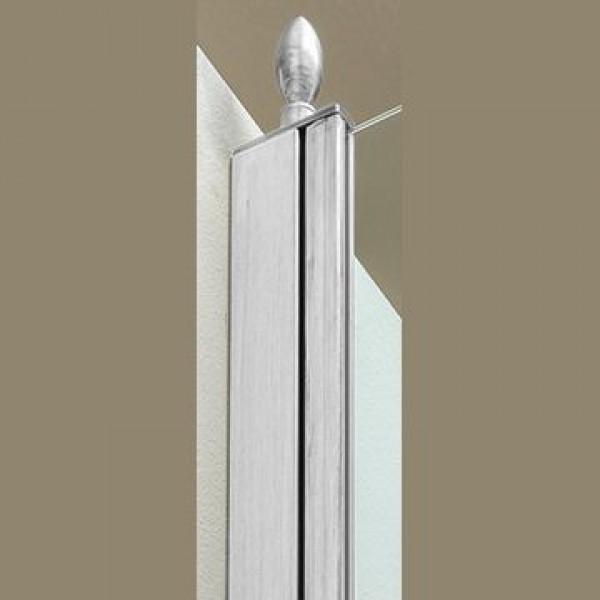 Декоративный наконечник STURM Spitze для профиля ограждений (1 шт). Хром LUX-SPITZE-CR