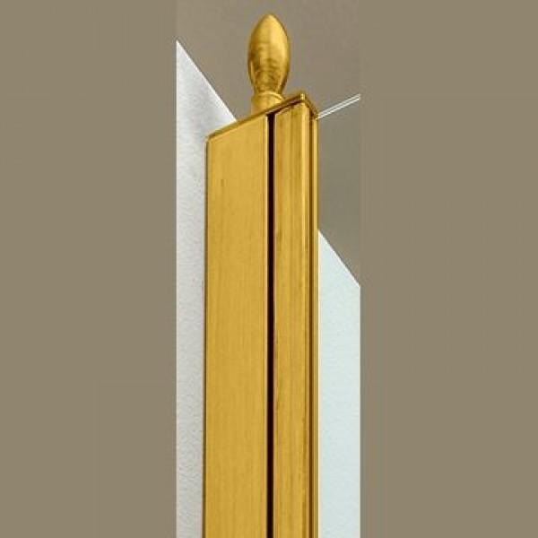 Декоративный наконечник STURM Spitze для профиля ограждений (1 шт). Золото LUX-SPITZE-GL