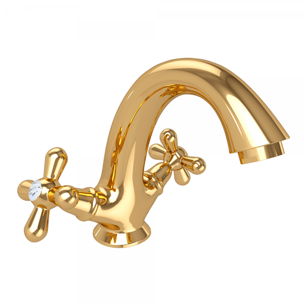 Смеситель для раковины STURM Classica с донным клапаном, золото ST-CLA-31060-GL
