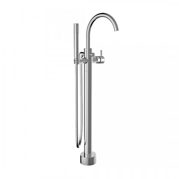 Смеситель для ванны STURM Daiquiri напольный c ручным душем, шлангом и встраиваемой частью, хром ST-DAI-62911-CR