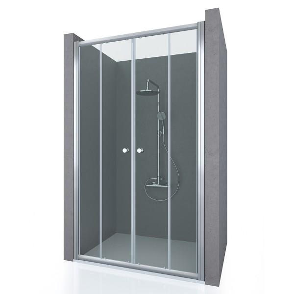 Душевая дверь в нишу STURM Entrada 1400х1900 прозрачные стекла. Хром ST-ENTR14-NTRCR