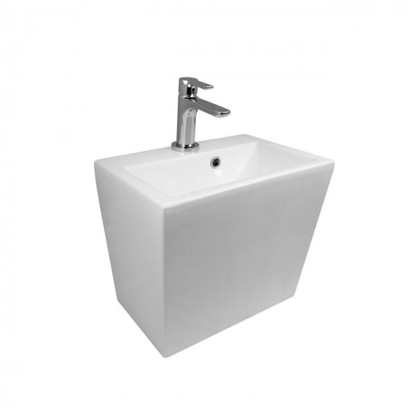 Раковина подвесная STURM Feel, 46x32x40 см, 1 отв. под смеситель, перелив, белая, ST-FEEL463240-TBNCR