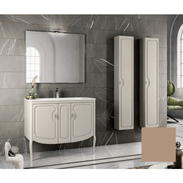 Комплект мебели STURM Fleur 1050*510*830 мм раковина с 1 отв. под смеситель - белый глянец, тумба с 2 распаш. фасадами, бежевый матовый ST-FLEUR105G-CM