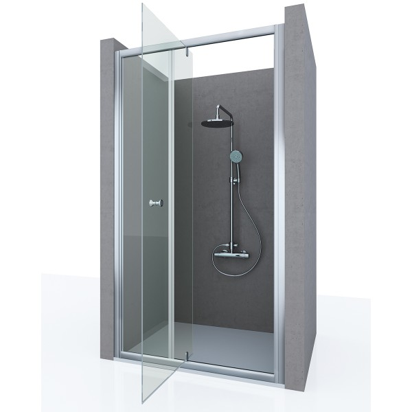 Душевая дверь в нишу STURM Fortuna 1000x1900 прозрачные стекла. Хром ST-FORT10-NTRCR