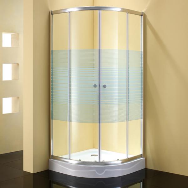 Душевое ограждение STURM Gallery 900х900х1900 стекла с белыми полосками. Хром ST-GALL0909-NWSCR