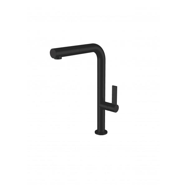 Смеситель STURM Zona di Gusto на 1 отв. с поворотным изливом (высота 322 мм L=210 мм) для кухонной мойки, чёрный матовый ST-GUS-7817-BM