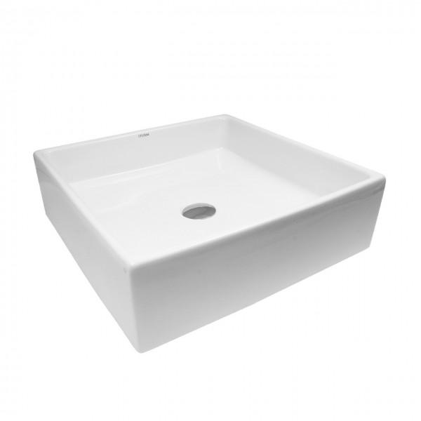 Раковина настольная STURM Hope, 47x37x15 см, прямоугольная, без отверстия под смеситель, без перелива, белая, ST-HOW473715-NBN