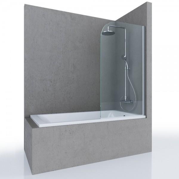 Шторка на ванну STURM Mia 800x1400 прозрачные стекла. Хром ST-MIA08-NTRCR