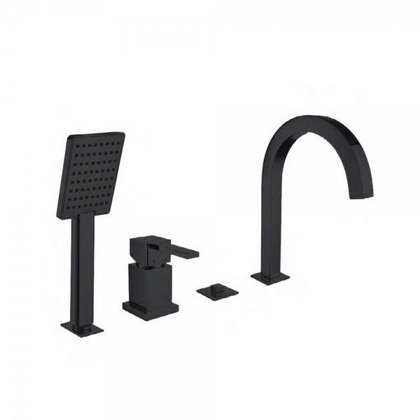 Смеситель для ванны STURM Platz Black на 4 отв. (на горизонтальную поверхность), чёрный матовый, ST-PLA-09080-BM