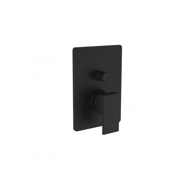 Смеситель для ванны/душа STURM Platz Black со встраиваемой частью, чёрный матовый ST-PLA-80010-BM