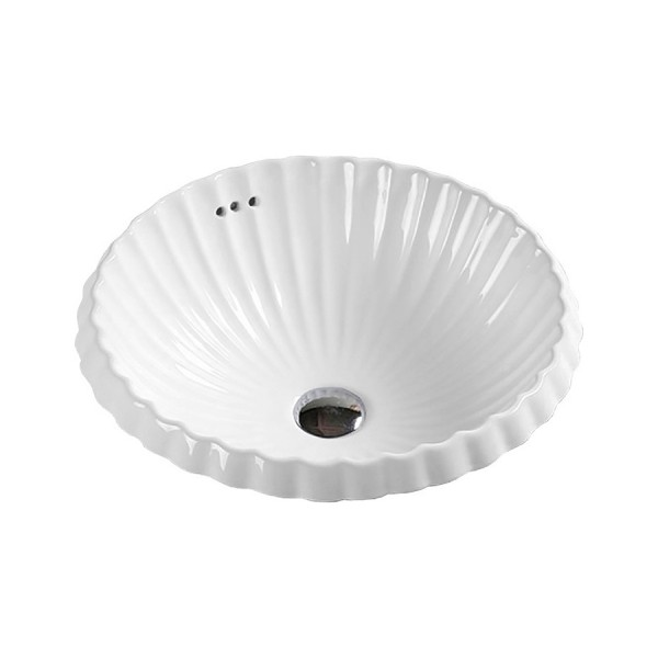 Раковина встраиваемая STURM Shell D=45.5 см, белая ST-SH524520-NBNCR
