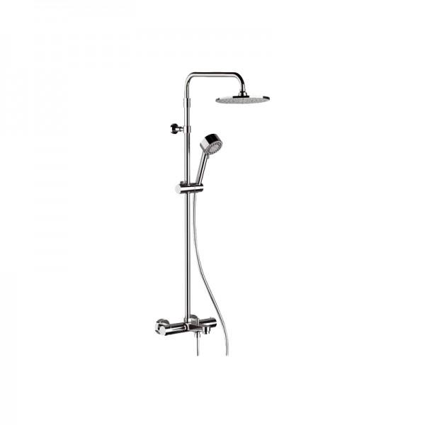 Душевая колонна STURM Smart смеситель, излив 190 мм для ванны, верхний душ д=200 мм, ручной душ с 3 типами струи, хром ST-SMA-636EC20-CR