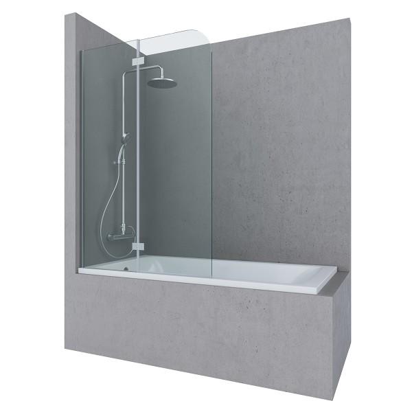 Шторка на ванну STURM Song Left 1000х1500 (в левый угол), прозрачные стекла. Хром ST-SONG10-LTRCR