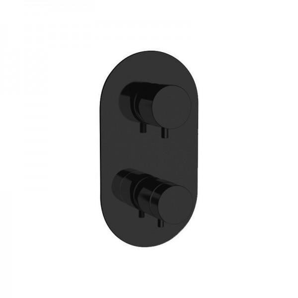 Термостат STURM Thermo Round, встраиваемый на 3 потребителя (в комплекте встраиваемая часть), чёрный матовый, ST-THERM206D3-BM