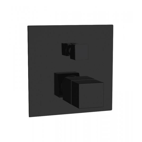 Термостат STURM Thermo Square встраиваемый на 2 потребителя (в комплекте встраиваемая часть), чёрный матовый ST-THERM612-BM