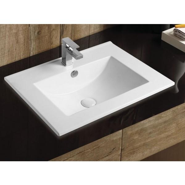 Раковина накладная STURM Top 62x46x18 см, с 1 отверстием под смеситель, для мебели, перелив, белая, ST-TOP0624618-TBNCR