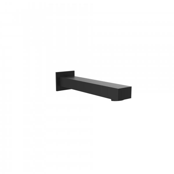 Излив STURM Universal из стены L=222 мм (фланец 60x50 мм) для ванны/раковины, чёрный матовый ST-UN3140-BM