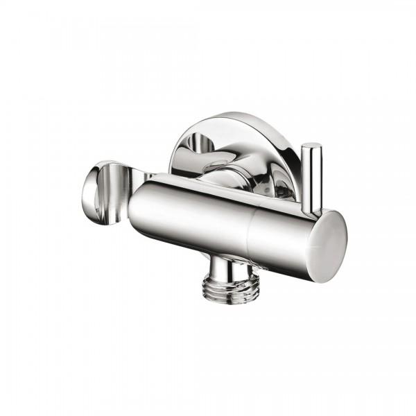 Запорный вентиль STURM Universal фланец d=50 мм с держателем-подсоединением для ручного душа, хром ST-UN9256-CR