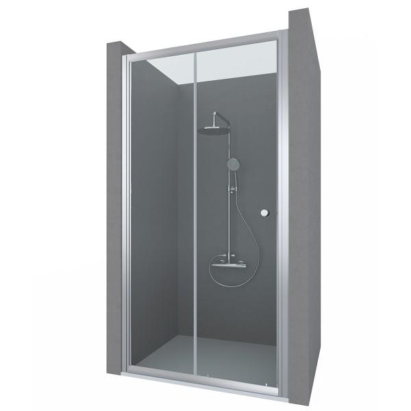 Душевая дверь в нишу STURM Viva 1000x1900 прозрачные стекла. Хром ST-VIVA10-NTRCR