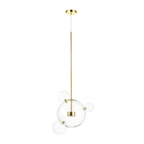 Светильник подвесной STURM Bolle, светодиодный, 49x35х180 см, LED 1*12W 4000k 700lm, золото/прозрачный, STL-BOL038703
