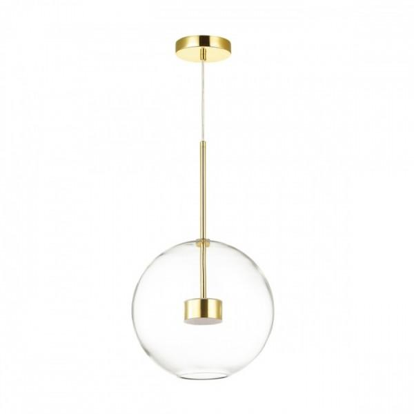 Светильник подвесной STURM Bolle, светодиодный, 30х180 см, LED 1*12W 4000k 700lm, золото/прозрачный, STL-BOL038710